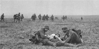 Herbert wounded on the front